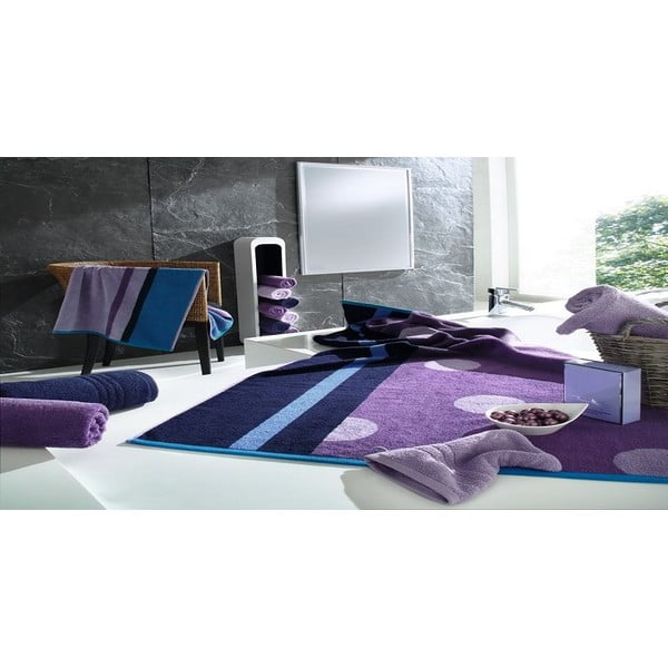 Ručník Punkte Purple, 70x140 cm