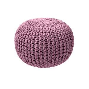 Světle růžový pletený puf ZicZac