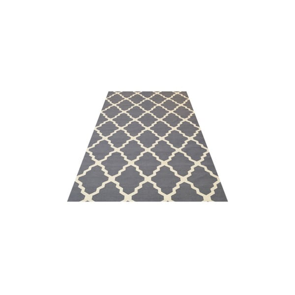 Vlněný koberec Kilim Jasmina Grey, 200x290 cm