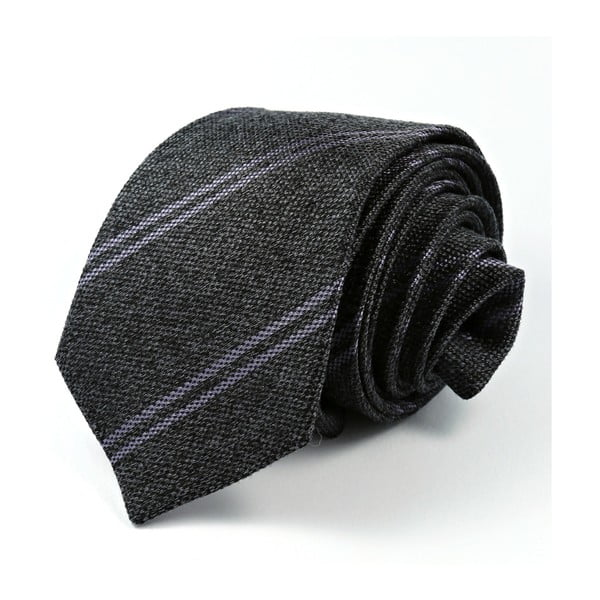 Šedá hedvábná kravata