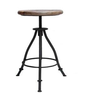 Černá stolička se sedákem z mangového dřeva LABEL51 Jaipur