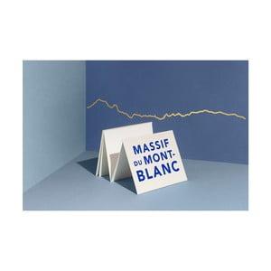 Pozlacená nástěnná dekorace se siluetou města The Line Mont Blanc
