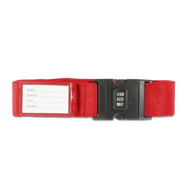 Červený bezpečnostní pás na kufr Bluestar
