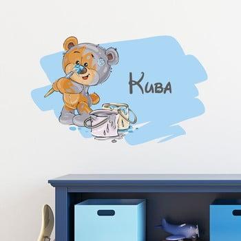 Autocolant de perete cu nume Ambiance Teddy Bear de la Ambiance