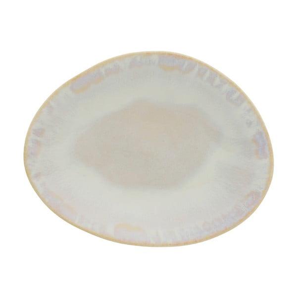Biały kamionkowy talerz deserowy Costa Nova Brisa