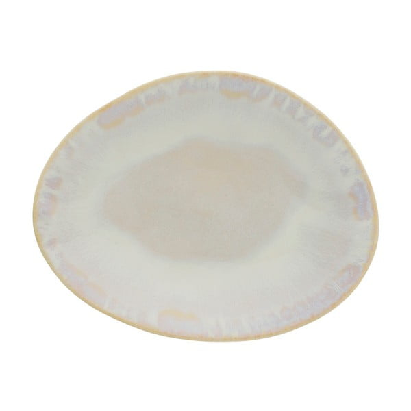 Farfurie pentru desert din gresie ceramică Costa Nova Brisa, alb