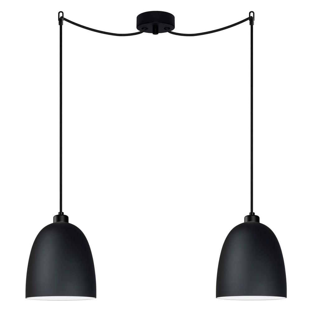 Černé dvojité závěsné svítidlo Sotto Luce Awa Elementary 2S Matte, ⌀17cm