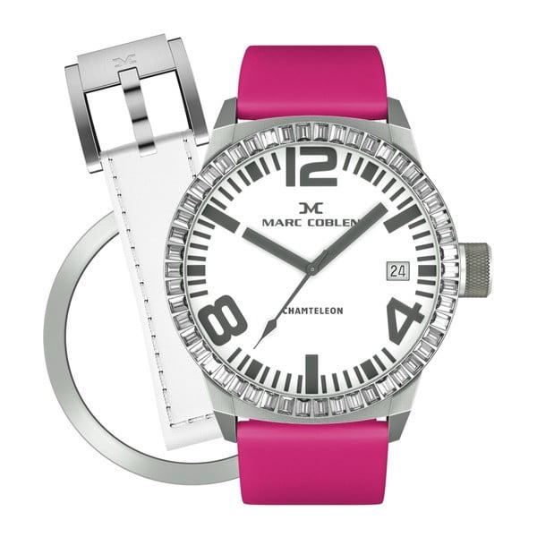 Dámské hodinky Marc Coblen s páskem a kroužkem navíc P6