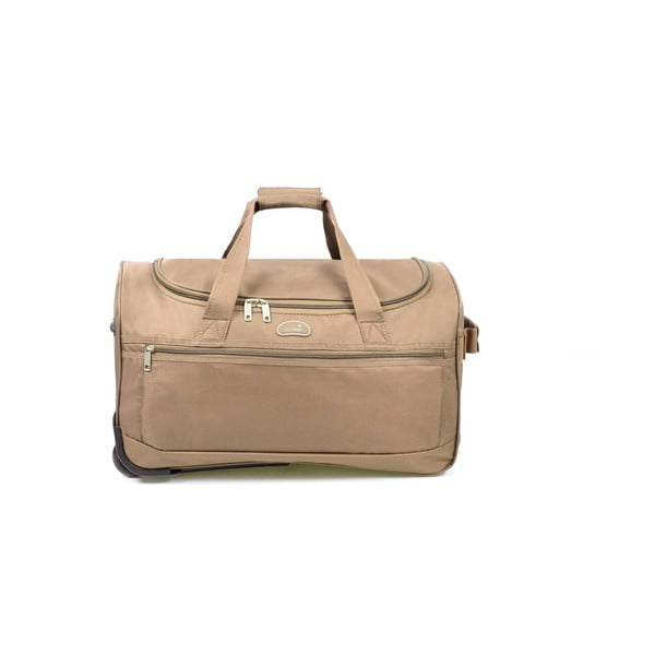 Béžová cestovní taška na kolečkách Hero,43l