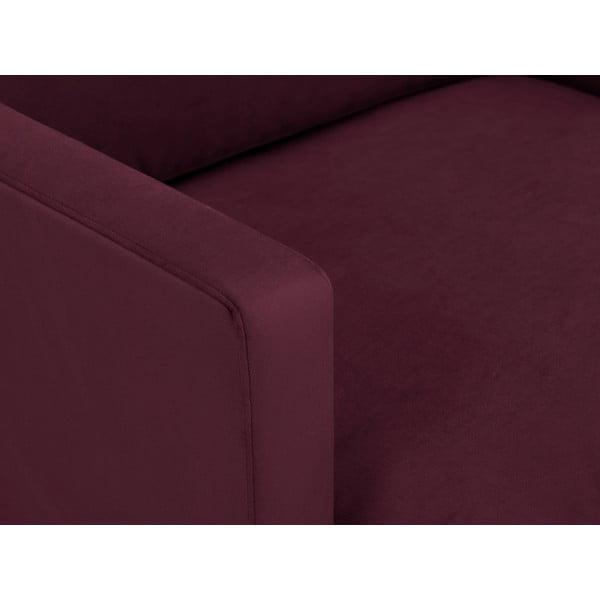 Bordeaux červené křeslo s podnožím v černé barvě Windsor & Co Sofas Jupiter