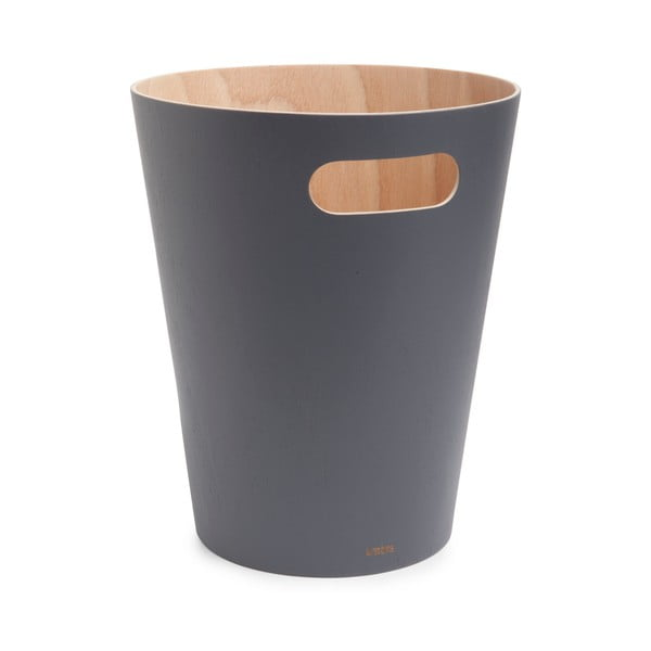 Šedý odpadkový koš Umbra Woodrow, 7,5l