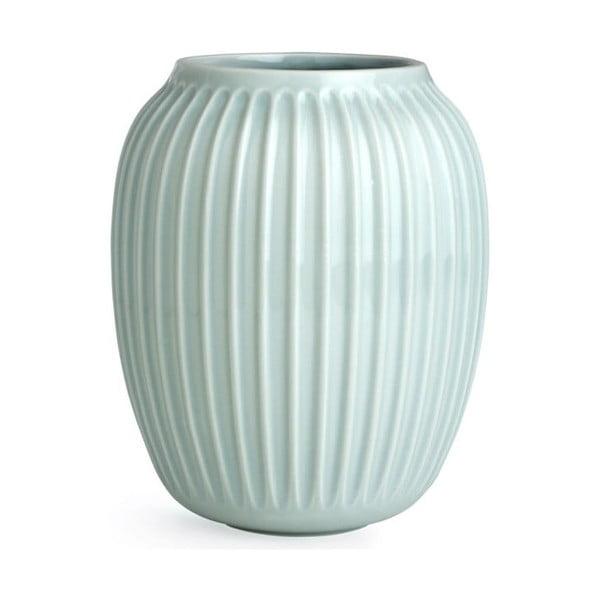 Mentolově modrá kameninová váza Kähler Design Hammershoi,výška 20 cm