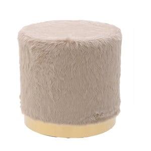 Béžová stolička s potahem zumělé kožešiny InArt Ivii