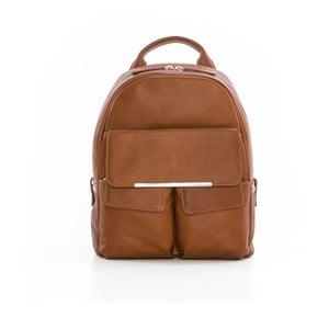 Hnědý kožený batoh Gianni Conti Petrina