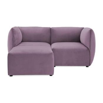 Canapea modulară cu 2 locuri și suport pentru picioare Vivonita Velvet Cube, mov lila de la Vivonita