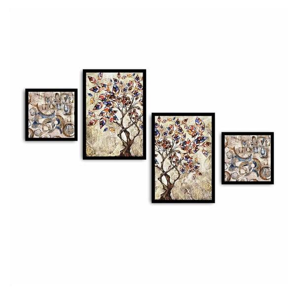 Tablou din mai multe piese Tree, 136 x 75 cm