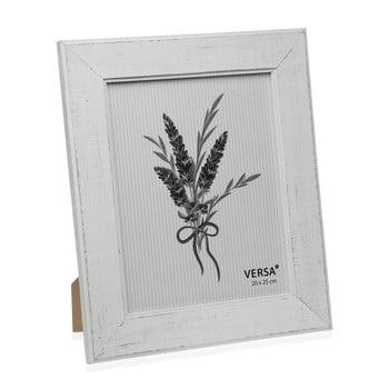 Ramă foto din lemn pentru fotografie Versa Madera Blanco 20x25cm