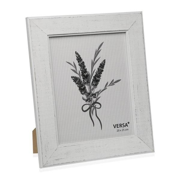 Dřevěný rámeček na fotografii Versa Madera Blanco, 20x25cm
