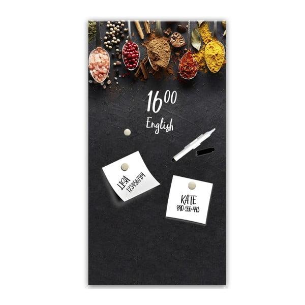 Magnetická tabule Styler Dark Spoons, 30 x 60 cm