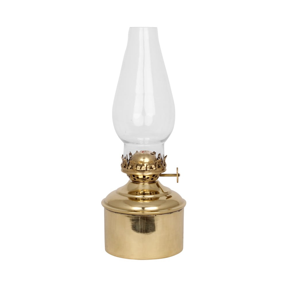 Petrolejová lampa zlaté barvy Strömshaga Haga