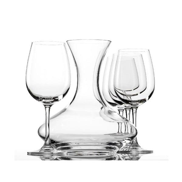 Set 4 sklenic a dekantéru na víno Weinland