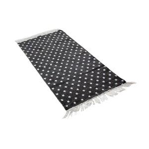Koberec Estrella 50x80 cm, černý/bílý