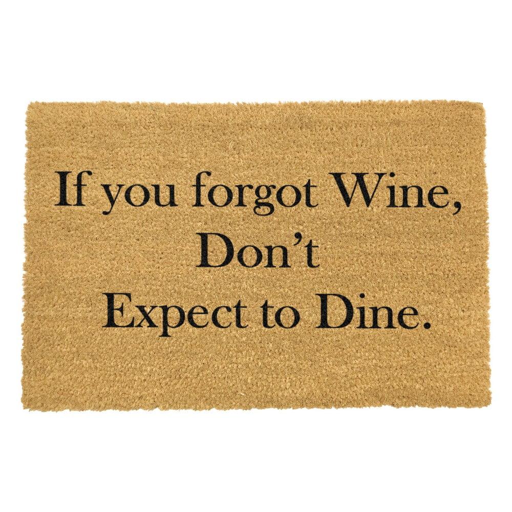 Rohožka z přírodního kokosového vlákna Artsy Doormats If You Forgot Wine,40x60cm