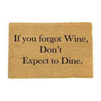 Covoraș intrare din fibre de cocos Artsy Doormats If You Forgot Wine, 40 x 60 cm imagine