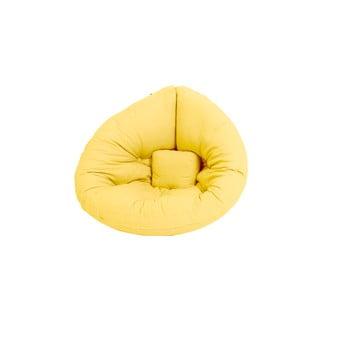 Fotoliu extensibil pentru copii Karup Mini Nido galben