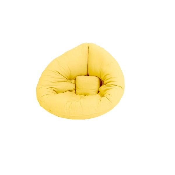 Żółty dziecięcy fotel rozkładany Karup Mini Nido