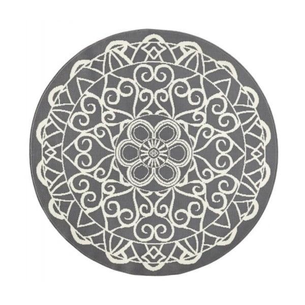 Szary okrągły dywan Zala Living Capri, ø 140 cm