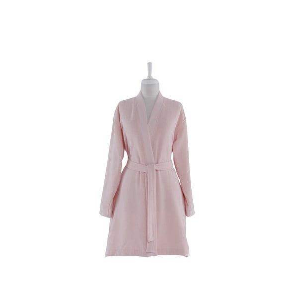 Smart rózsaszín pamut köntös, L/XL méret - Bella Maison