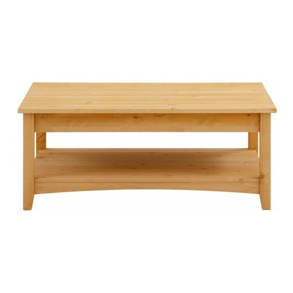 Konferenční stůl se šuplíky z masivního borovicového dřeva Støraa Chub L
