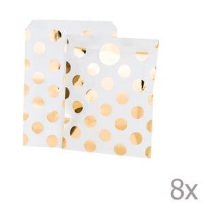 Set 8 punguțe din hârtie Talking Tables Metalic