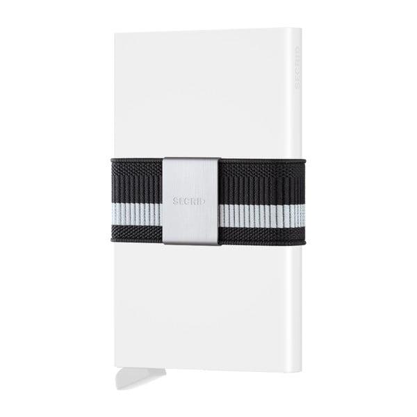 Bílá peněženka s pouzdrem na karty s šedým páskem Secrid