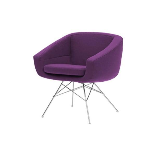 Ciemnofioletowy fotel Softline Aiko Vision Purple