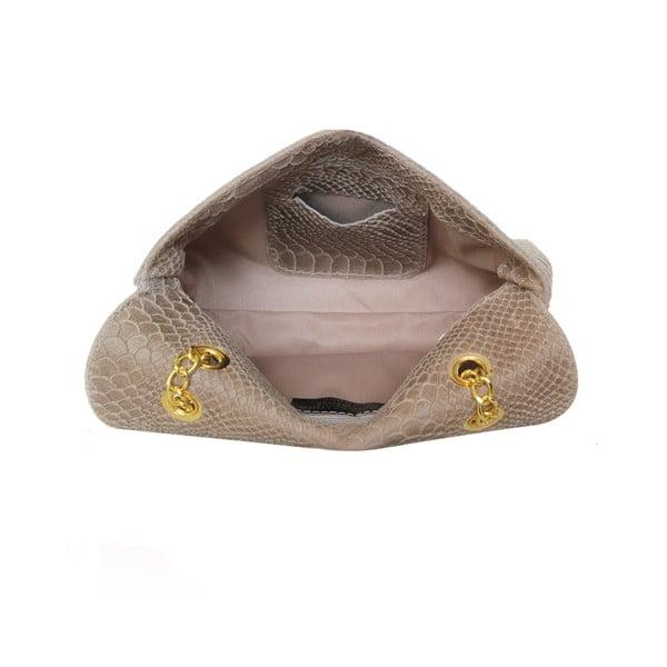 Kožená kabelka Gaia, béžová