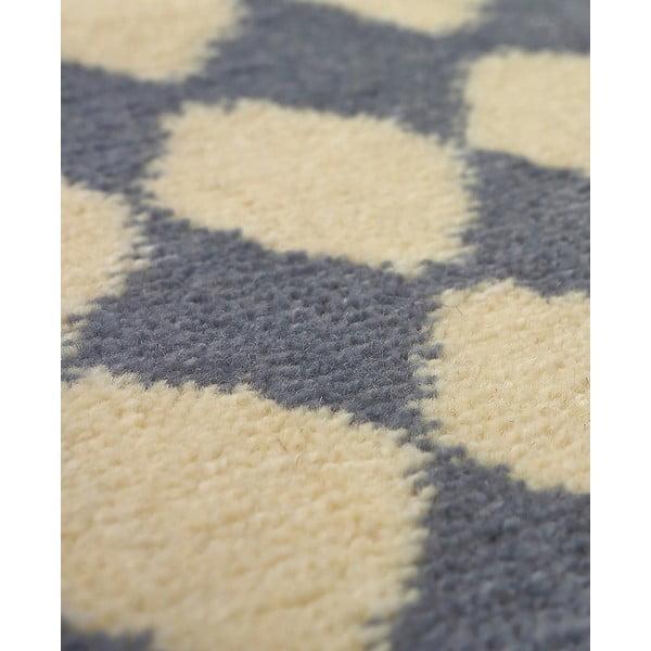 Vlněný koberec Oslo no.3, 140x200 cm, šedý
