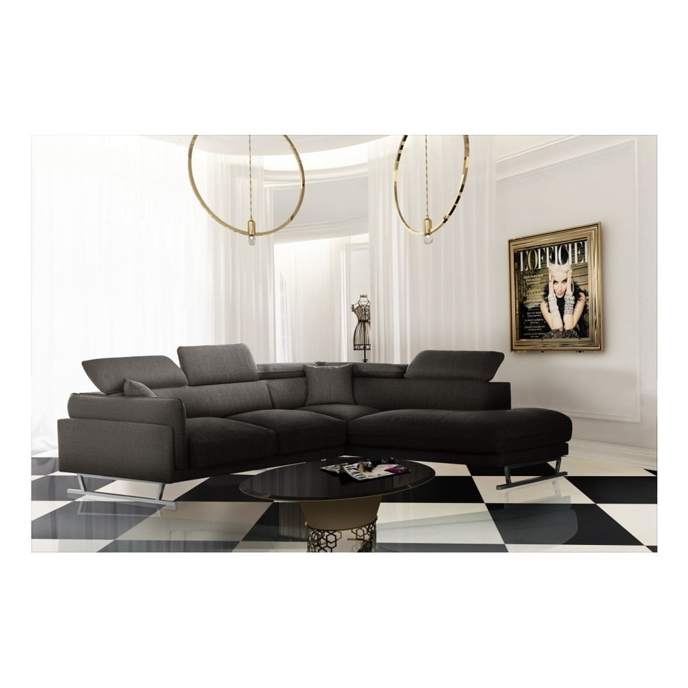 col ar cu ezlong pe partea dreapt l 39 officiel interiors gigi big maro cenu iu bonami. Black Bedroom Furniture Sets. Home Design Ideas