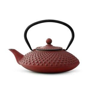 Červená litinová konvice se sítkem na sypaný čaj Bredemeijer Xilin, 1,25l