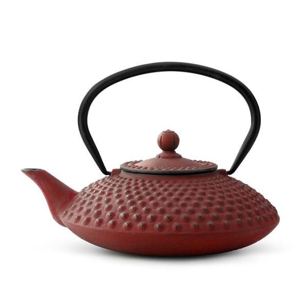 Xilin piros öntöttvas teáskanna szűrővel, 1,25 l - Bredemeijer