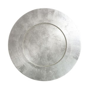 Tavă rotundă din bambus Ixia Moon, argintiu