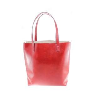 Geantă din piele Chicca Borse Greta, roșu