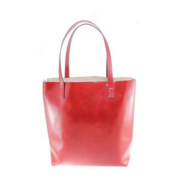 Geantă din piele Chicca Borse Greta, roșu poza