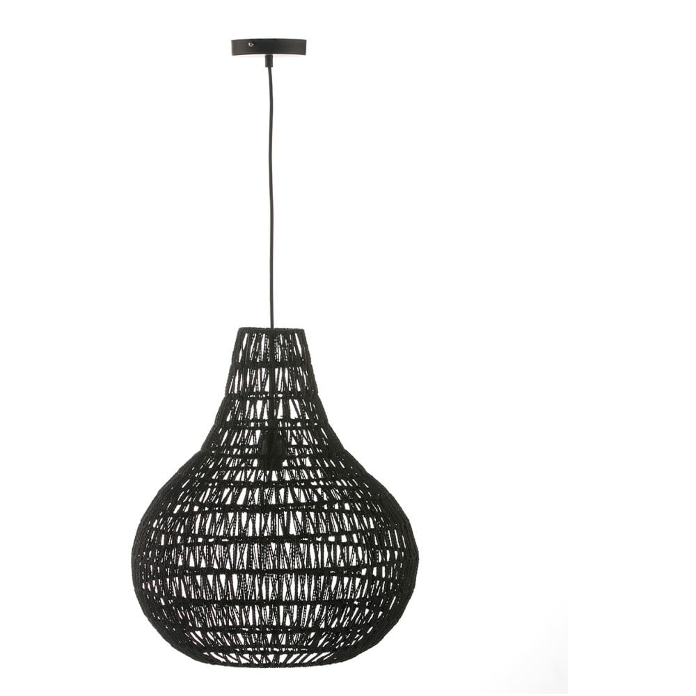 Černé závěsné svítidlo Surdic Valetta, Ø 46 cm