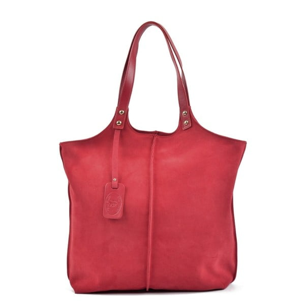 Červená kožená kabelka Roberta M Magna