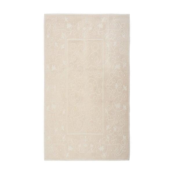 Krémový bavlněný koberec Floorist Qwara, 60x90cm