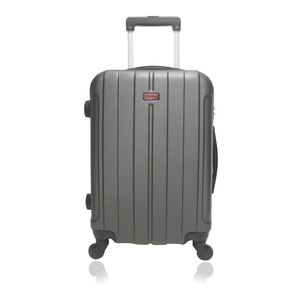 Tmavě šedý cestovní kufr na kolečkách Hero Fogo, 36 l