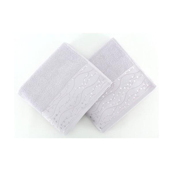 Sada 2 ručníků Tomuruk Lilac, 50x90 cm