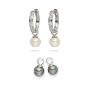 Sada 2 perlových náušnic Nova Pearls Copenhagen Celine